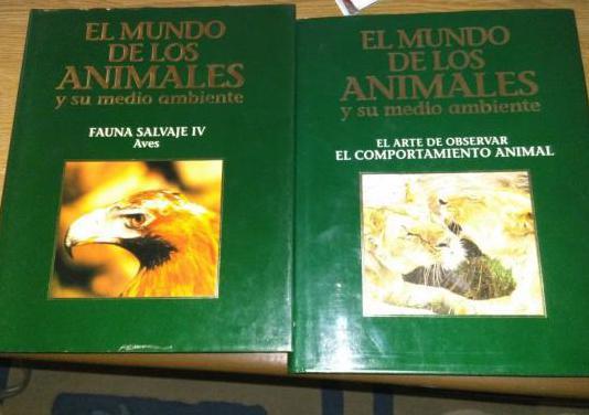Libros y laser disc mundo animales
