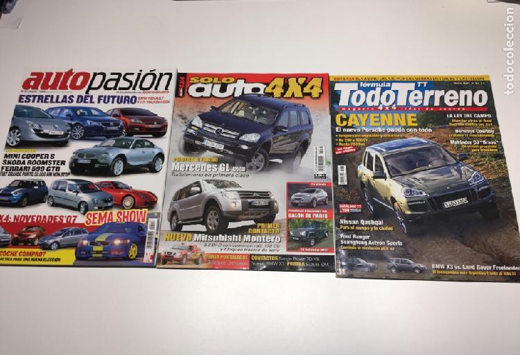 Lote 3 revistas coches