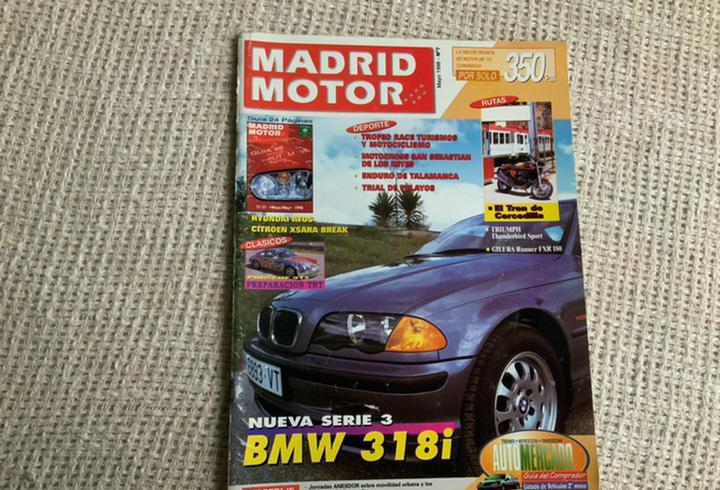 Madrid motor nº 7 mayo 1998 serie 3 bmw 3 1 8 i