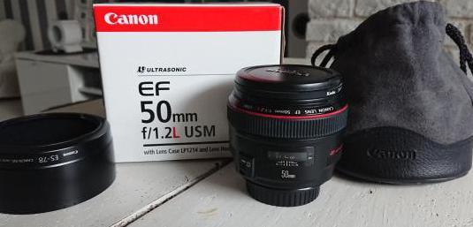 Objetivo canon ef 50mm f1,2l usm