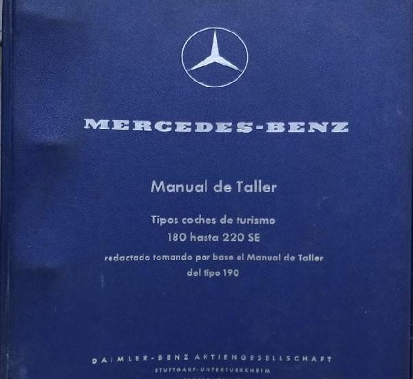 Raro manual de taller de mercedes benz, modelos 180, a, b,
