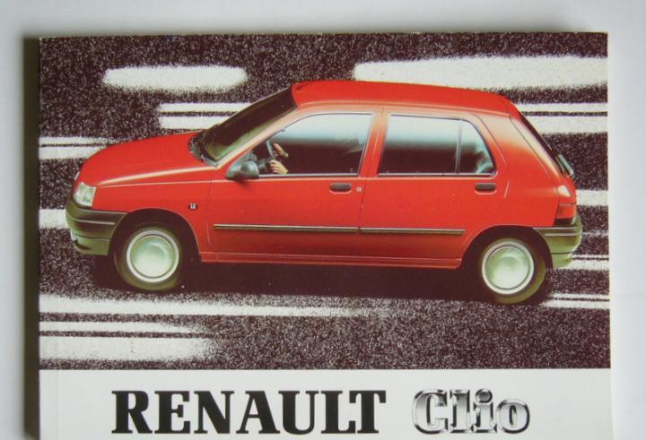 Renault clio - manual de instrucciones - año 1991