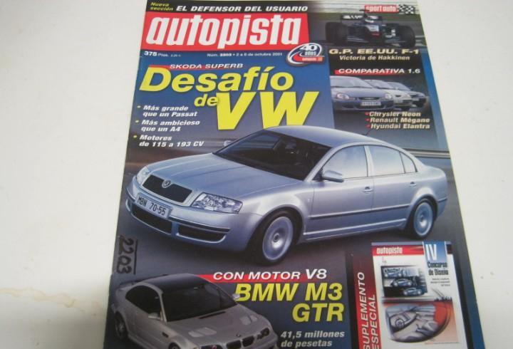 Revista autopista 2001: bmw m3 smg ii; vw bora tdi; etc...