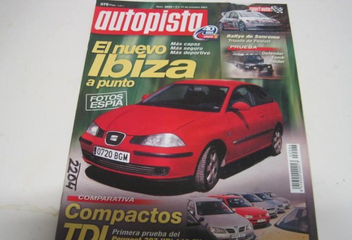 Revista autopista 2001: land rover defender tomb raider;