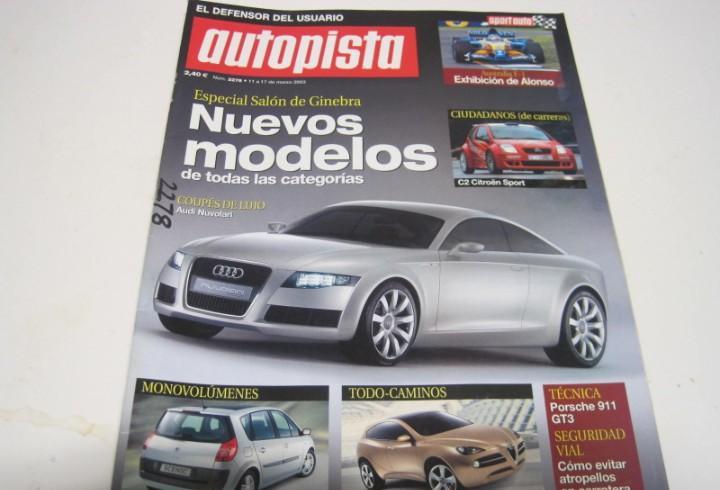 Revista autopista 2003: porsche 911 carrera 4 cabriolet;