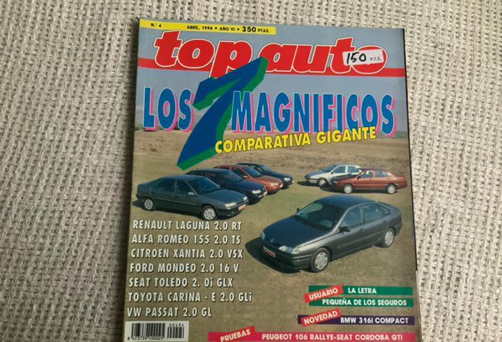 Top auto nº 4 abril 1994 morgan plus 4, asia rocsta,
