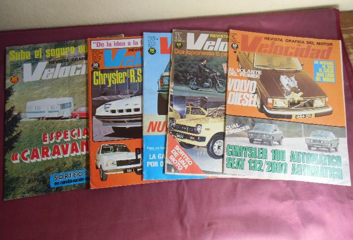 Velocidad.revista grafica del motor.1977-78-79.cinco