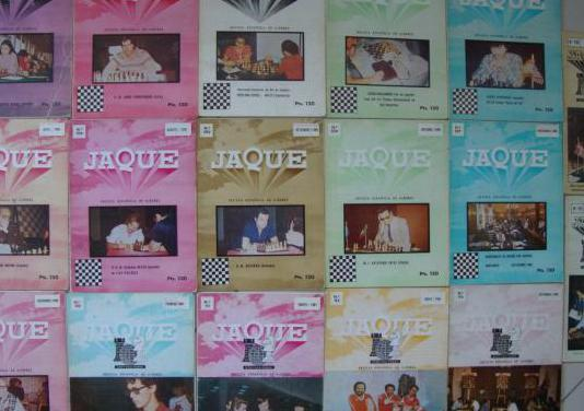 Jaque ajedrez 17 revistas años 80