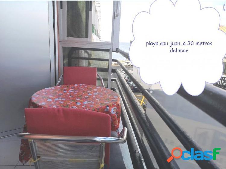 Playa san juan piso 2 habitaciones a 30 metros del mar con garaje y lavadero