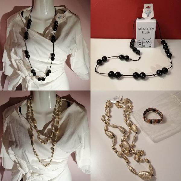 4.95€ collar negro o dorado fiesta nuevo