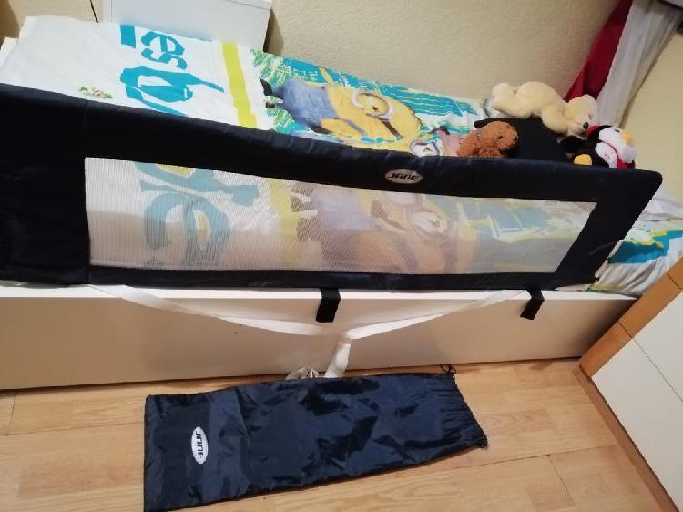 Barrera de cama abatible y plegable azul marino