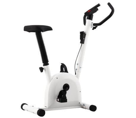 Bicicleta estática con resistencia de cinta blanco