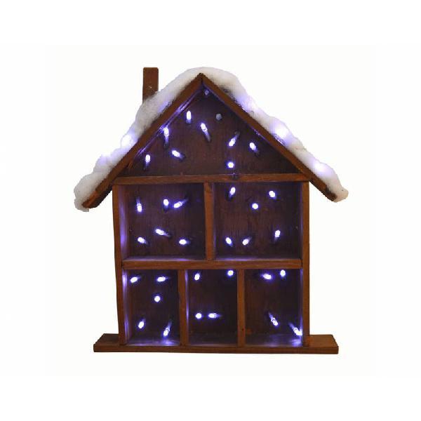 Casita madera con luz r4673