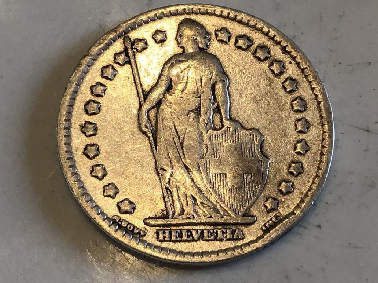 Moneda 1 franco. suiza. año 1921