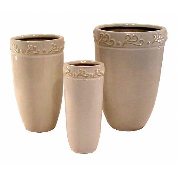 Set de 3 floreros cerámica r4702