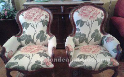 Vendo dos sillones estilo isabelino