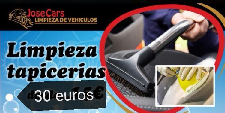 Limpieza de tapicería coches 30€