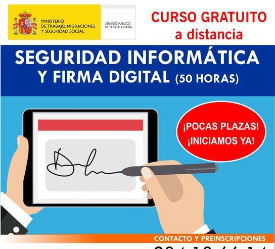 Curso online seguridad informática y firma digital