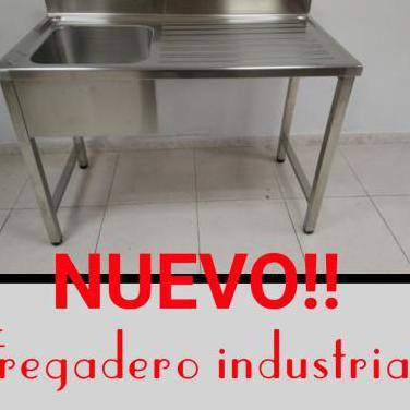 Fregadero industrial acero inoxidable 1.200x600