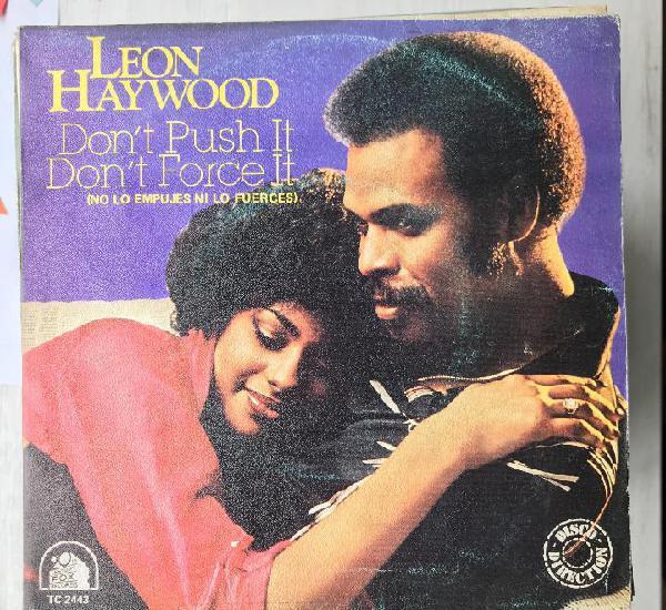 Leon haywood - don't push it don't force it - single 20th