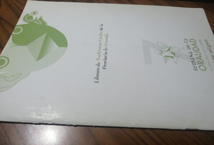 Libreto de tradiciones orales de la provincia de granada.