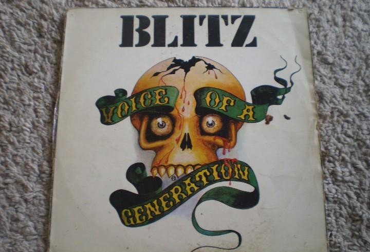 Lp. blitz. a voice of a generation. vinilo con alguna señal