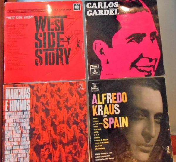 Lps:carlos gardel-west side story-marchas e himnos. alfredo