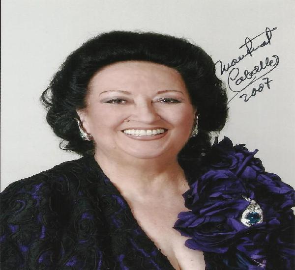 Montserrat caballé. fotografía con autógrafo, firma