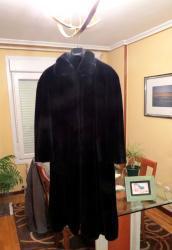 Abrigo piel artificial de mujer