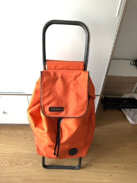 Carro de la compra marca rolser color naranja