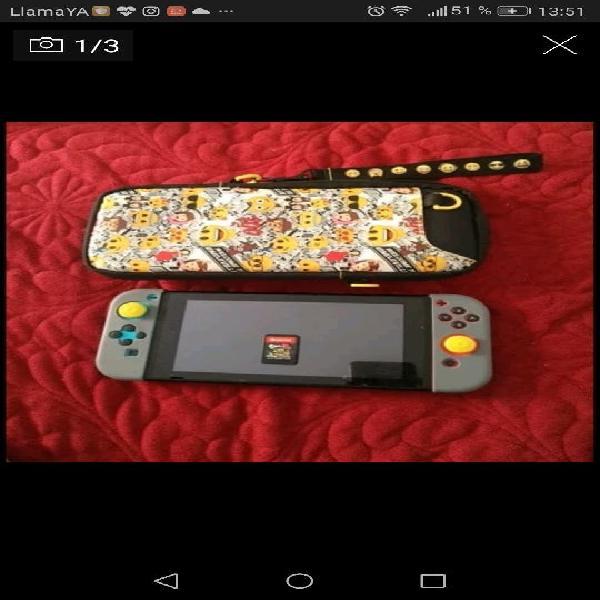 Nintendo switch lote + splatoon 2 + funda