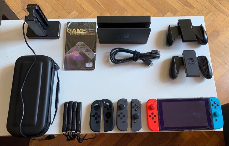 Nintendo switch con accesorios