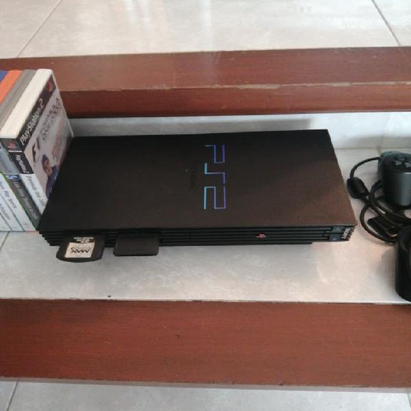Ps2 con mandos y juegos