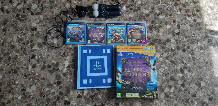 Pack juegos ps3 playstation move + cámara y mandos