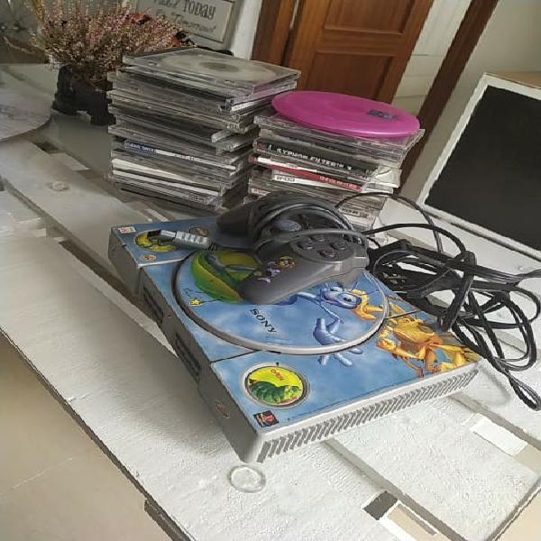 Playstation ps1 one psx libre con juegos y mando
