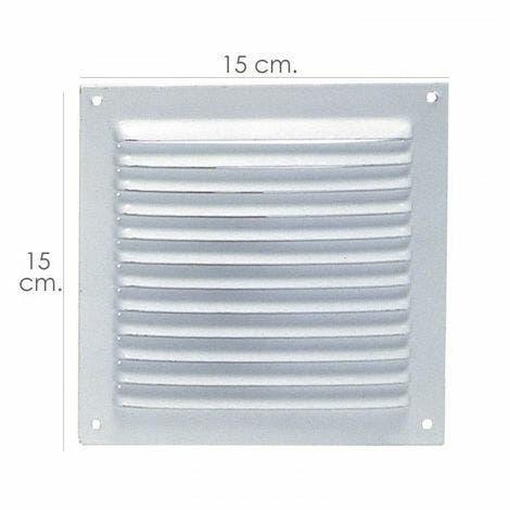 Rejilla ventilación atornillar 15x15 cm. blanca