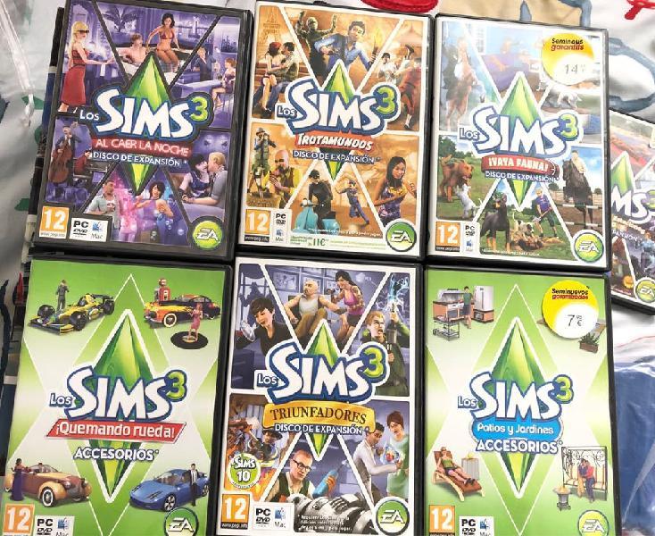 Sims 3 + diferentes expansiones