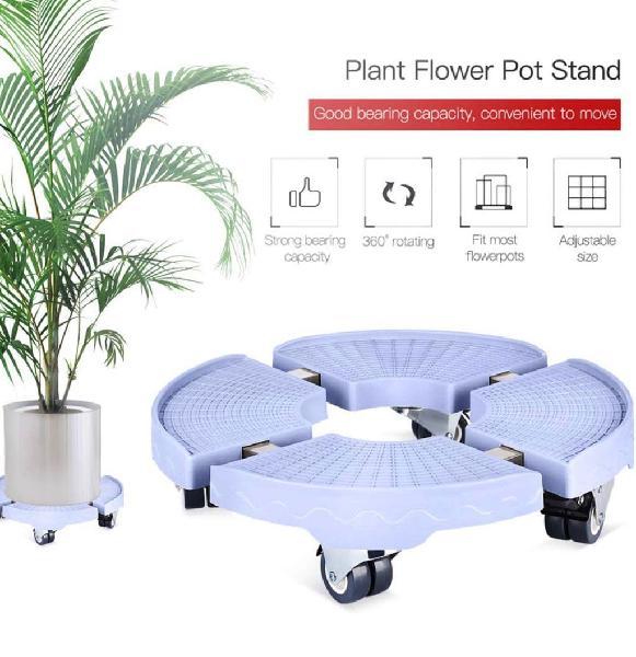 Soporte de plantas extraíble con ruedas