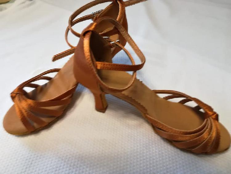 Zapatos baile latino 7cm tacón nuevos sin estrenar