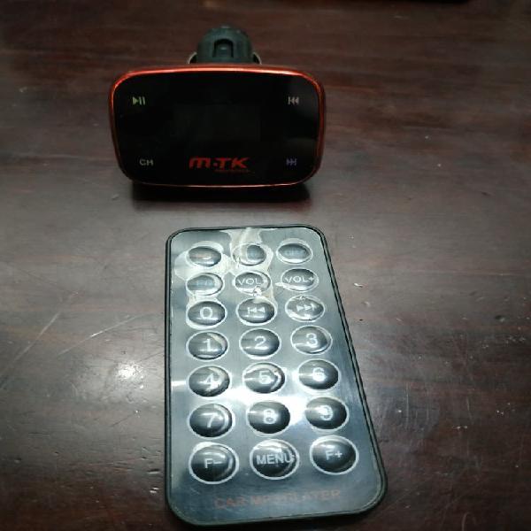 Bluetooth usb y aux coche con mando