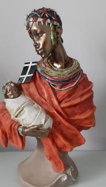 Figura africana, escultura de mujer