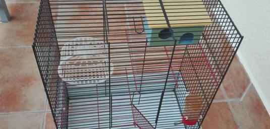 Jaula hamster de 3 pisos