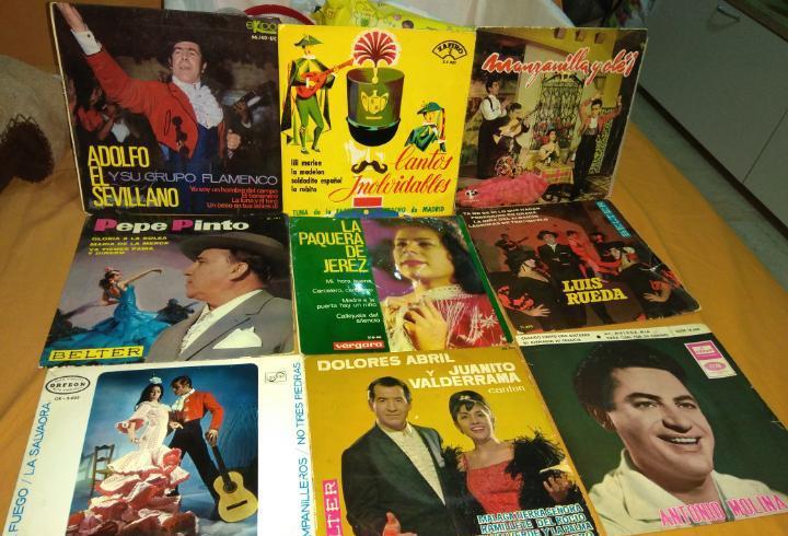 Lote 9 discos de vinilo eps - manolo caracol - antonio
