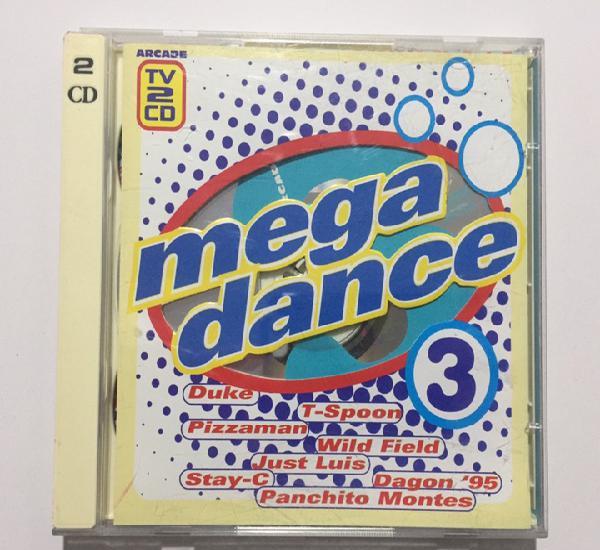 Mega dance 3 - mix 2cd's - recopilatorio - arcade 1995