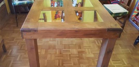Mesa comedor madera maciza pino mexicano