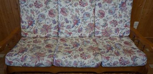 Sofa de pino 3 plazas 168 cm