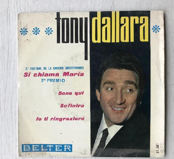 Tony dallara - si chiama maria - 7'' ep belter spain 1965