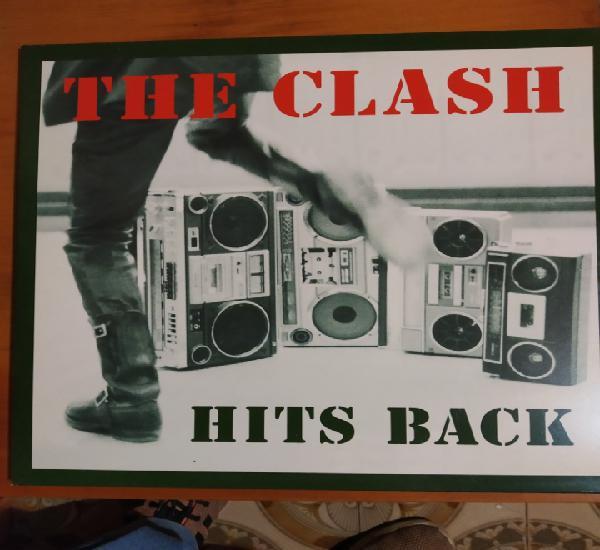 The clash. hits back. triple lp. contiene el póster.