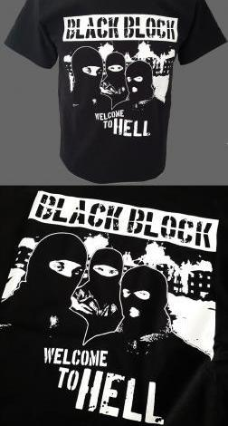 Camisetas manga corta - black block (tallas chico/a)