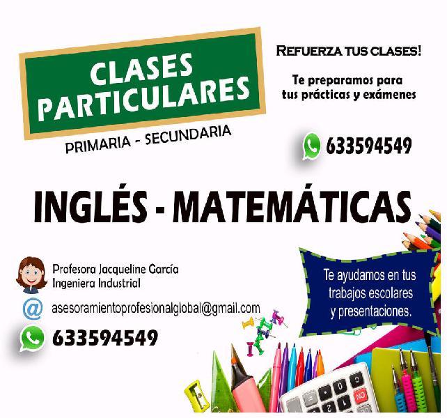 Clases online de inglés, matemáticas, ...